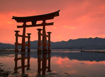 Torii at Itsukushima Shrine